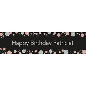 Rose Gold Celebration Personalized Banner (Each)