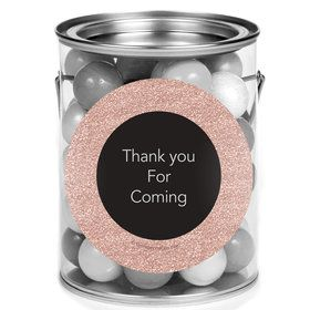 Rose Gold Celebration Personalized Mini Paint Cans (12 Count)
