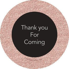 Rose Gold Celebration Personalized Mini Stickers (Sheet of 24)