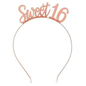 Rose Gold Sweet 16 Headband