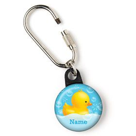 "Rubber Duck Personalized 1"" Carabiner (Each)"