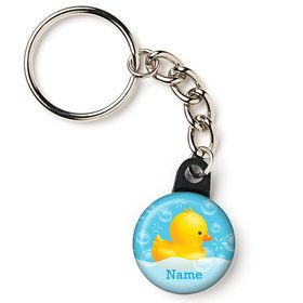 "Rubber Duck Personalized 1"" Mini Key Chain (Each)"
