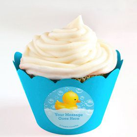 Rubber Duck Personalized Cupcake Wrappers (Set of 24)