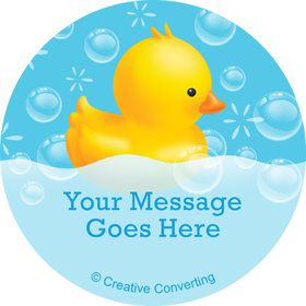 Rubber Duck Personalized Mini Stickers (Sheet of 24)