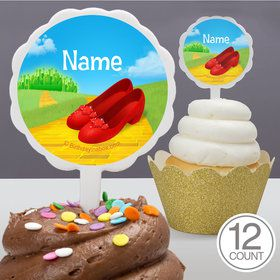 Ruby Slippers Personalized Cupcake Picks (12 Count)