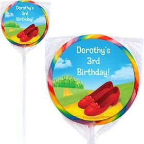 Ruby Slippers Personalized Lollipops (pack of 12)