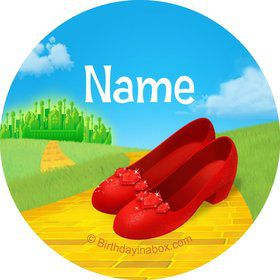 Ruby Slippers Personalized Mini Stickers (Sheet of 24)