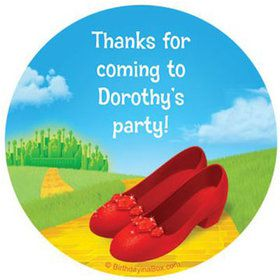 Ruby Slippers Personalized Stickers (sheet of 12)