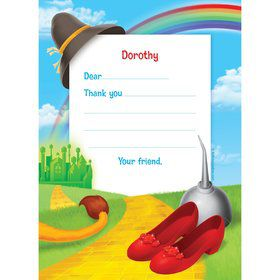 Ruby Slippers Personalized Thank You Note (each)