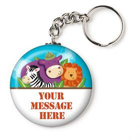 "Safari Adventure Personalized 2.25"" Key Chain (Each)"