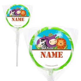 "Safari Adventure Personalized 2"" Lollipops (20 Pack)"