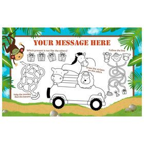 Safari Adventure Personalized Activity Mat (8 Count)