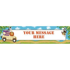 Safari Adventure Personalized Banner (Each)