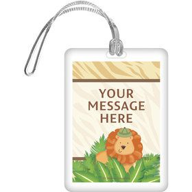Safari Adventure Personalized Luggage Tag (Each)