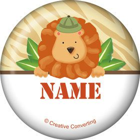 Safari Adventure Personalized Mini Button (Each)