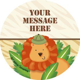 Safari Adventure Personalized Stickers (Sheet of 12)