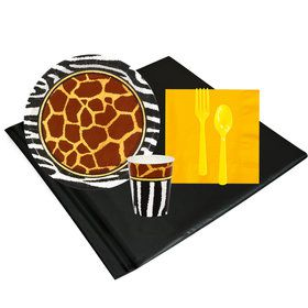 Safari Animal Adventure 8 Guest Party Pack