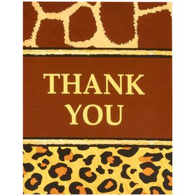 Safari Animal Adventure Party Thank-You Notes