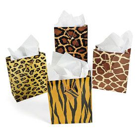 Safari Gift Bags (12 Count)
