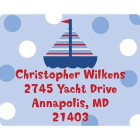 Sail Party Personalized Address Labels (sheet of 15)