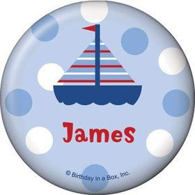 Sail Party Personalized Button (each)