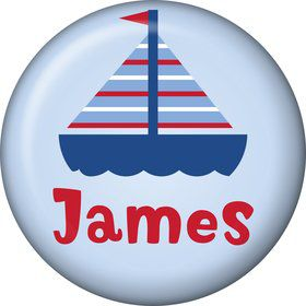 Sail Party Personalized Mini Magnet (Each)