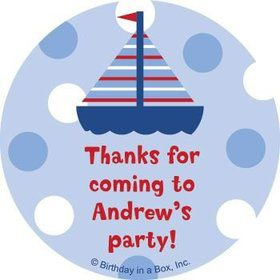 Sail Party Personalized Stickers (sheet of 12)