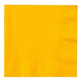 School Bus Yellow (Yellow) Lunch Napkins