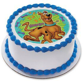 "Scooby Doo 7.5"" Round Edible Cake Topper (Each)"