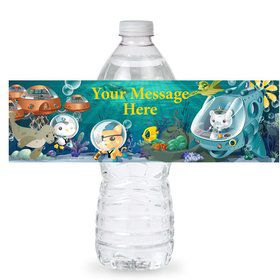 Sea Explorer Personalized Bottle Label (Sheet of 4)