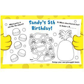 Sea Sponge Personalized Activity Mats (8-Pack)