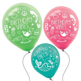 "Selfie Celebration 12"" Printed Latex Balloons (6)"