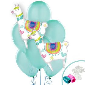 Selfie Celebration Jumbo Llama Balloon Bouquet