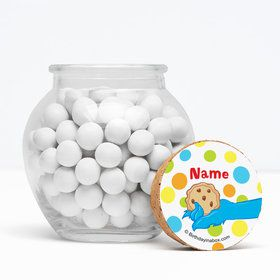 "Sesame Friends Personalized 3"" Glass Sphere Jars (Set of 12)"