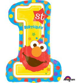 "Sesame Street 1st Birthday 28"" Balloon (Each)"