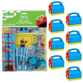 Sesame Street Filled Favor Boxes (For 8 Guests)
