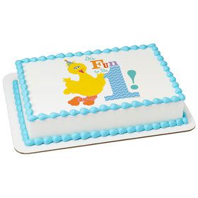 Sesame Street Fun to be One Quarter Sheet Edible Cake Topper (Each)