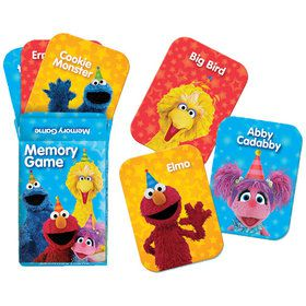 Sesame Street Memory Match Game Favors (6 Count)