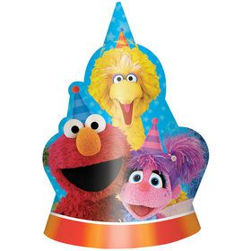 Sesame Street Party Hats (8 Count)