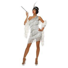 Sexy Womens Dazzling Flapper Costume Sil