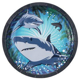 Shark Party Cake Plate (8 Pack)
