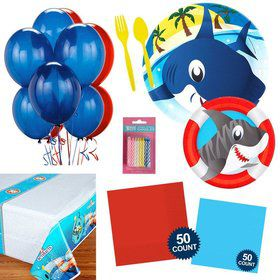 Shark Party Essentials Kit (Serves 16)