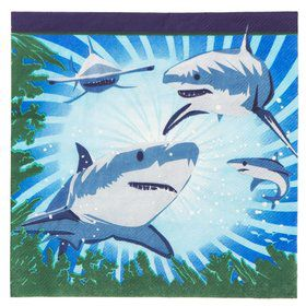 Shark Party Luncheon Napkins (16 Pack)