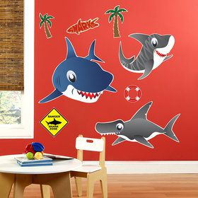 Sharks Giant Wall Decals