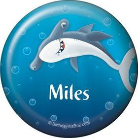 Sharks Personalized Button (each)