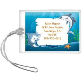 Sharks Personalized Luggage Tag (each)