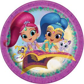 "Shimmer and Shine 9"" Lunch Plate (8 Count)"