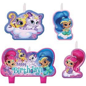Shimmer and Shine Birthday Candles(4 Count)