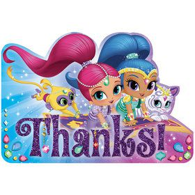Shimmer and Shine Thank You Notes (8 Count)
