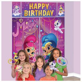 Shimmer Shine Scene Setter With Photo Booth Props